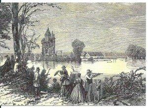 chateau innondé